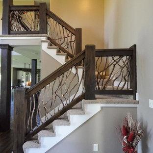Design ideas for a romantic staircase in Kansas City.