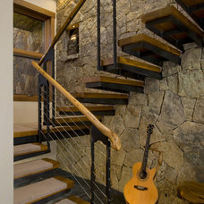 Eclectic Staircase by Graybeal Architects