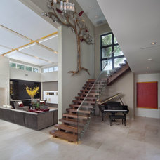 modern staircase by Phil Kean Design Group