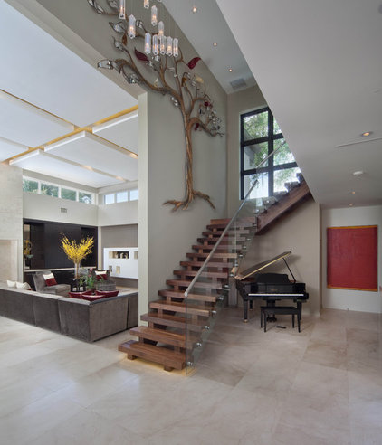 Contemporary Staircase by Phil Kean Design Group