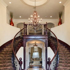 Mediterranean Staircase by Atrium Fine Homes