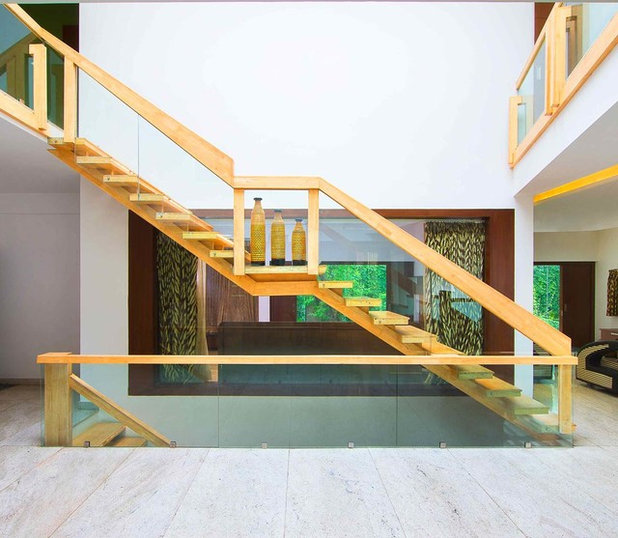 Contemporary Staircase by ARCHITECTURE CONTINUOUS