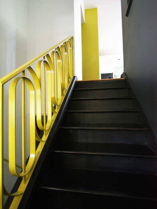Painted Stair Railing Home Design Ideas Pictures Remodel