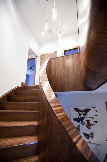 Contemporary Staircase by Capoferro Design Build Group