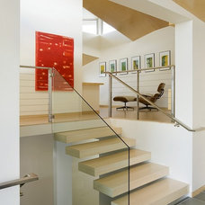 Modern Staircase by ZeroEnergy Design