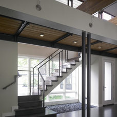 Modern Staircase by Burns and Beyerl Architects