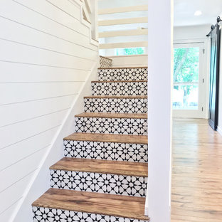 Modern Cement Tile Stairs
