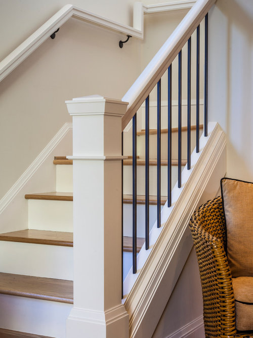 Craftsman L Shaped Staircase Design Ideas Remodels Amp Photos