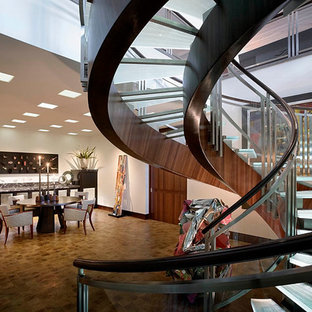 Staircase - contemporary spiral staircase idea in Orange County