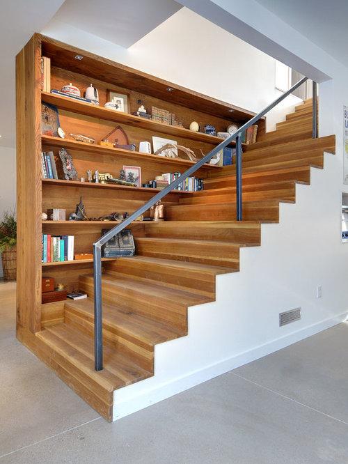 Stair Bookshelf stair bookcase | houzz