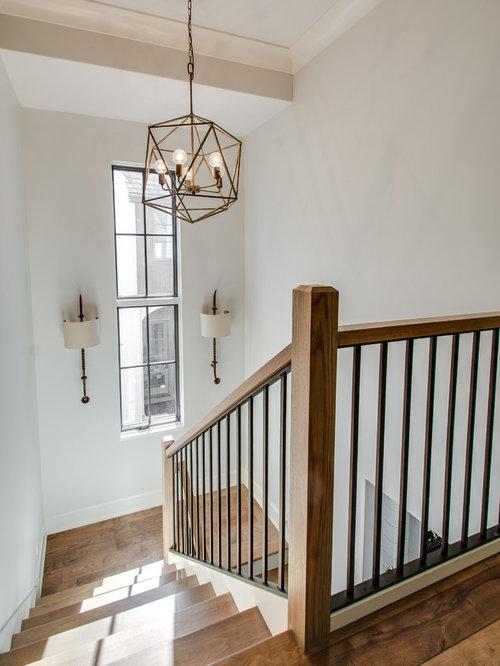 Farmhouse Chicago Staircase Design Ideas, Remodels & Photos