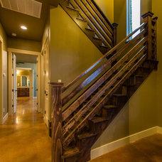 Farmhouse Staircase by Barron Custom Design, LLC
