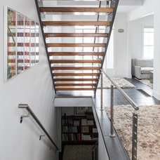 contemporary staircase by Becki Peckham