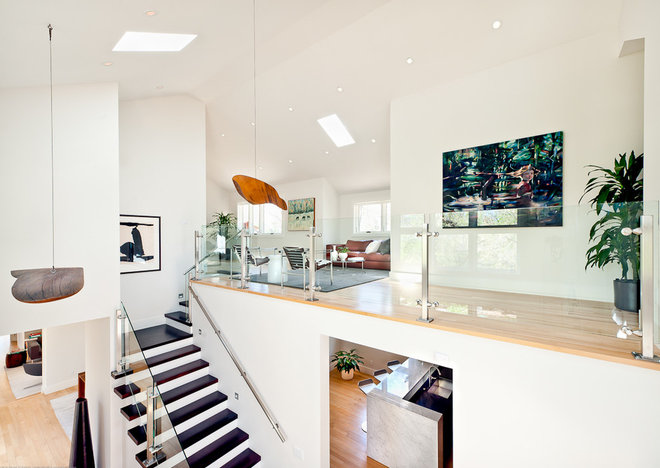 Contemporary Staircase by Kimberly Demmy Design