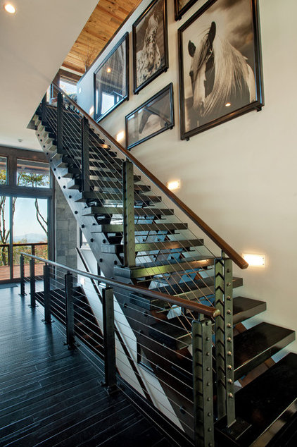 Contemporary Staircase by Dianne Davant and Associates