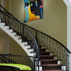 Modern Staircase by Interiors by Mary Susan