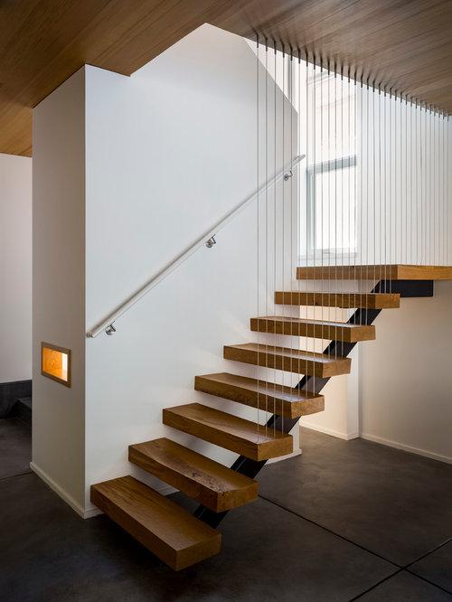 Modern Open Staircase Design Ideas Remodels Photos