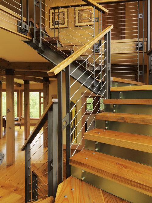 Outdoor stair railing houzz - Refurbish stairs budget ...