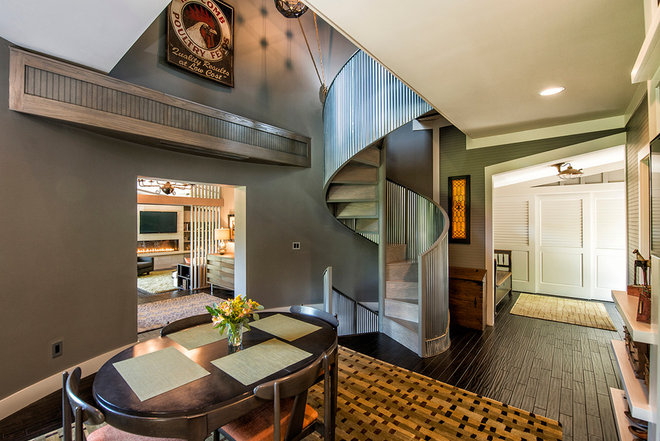 industrial staircase by Monticello Homes & Development