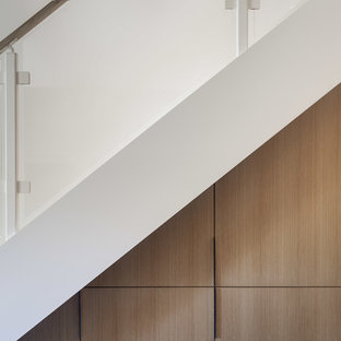 Inspiration for a small modern staircase remodel in Sacramento