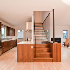 modern staircase by BUILD LLC