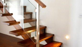 Modern Stair with Feature Step and Glass Balustrade