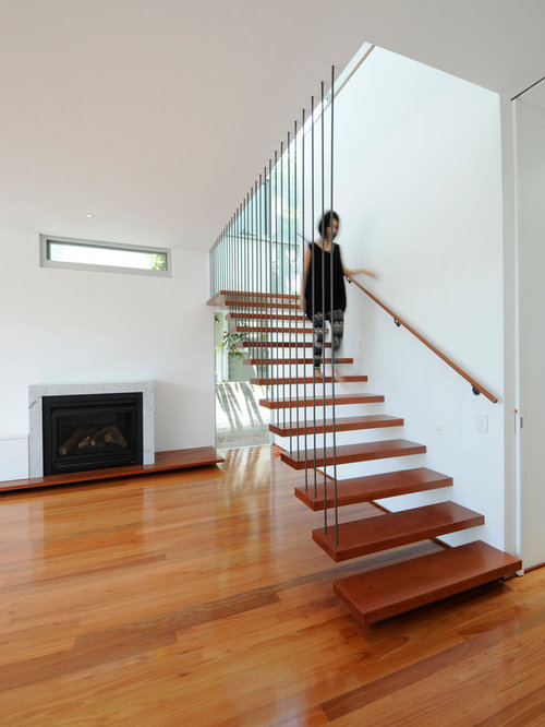 Floating stairs cost design ideas remodel pictures houzz Floating stairs