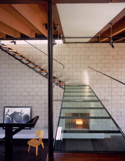 Industrial Staircase by Ehrlich Yanai Rhee Chaney Architects