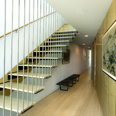 modern staircase by Halflants + Pichette