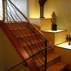 Modern Staircase by Howard Hvid