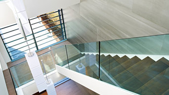 Modern Staircase in Open Plan Home