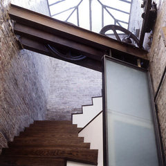 modern staircase by James Wagman Architect, LLC