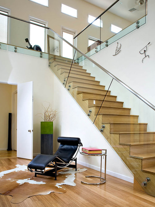 Wood and glass railings home design ideas pictures remodel and decor