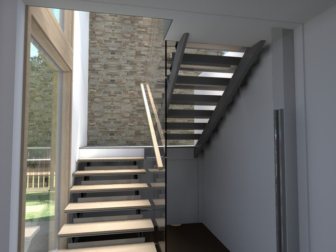 Modern Staircase by modern house architects