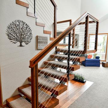 modern steps - beaverton staircase remodel