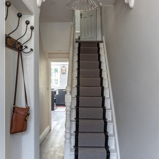 Photo of a victorian staircase in London.