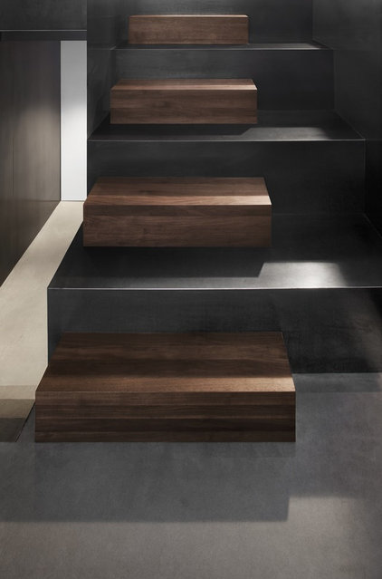 modern staircase by Natalie Dionne Architecture