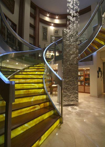 Contemporary Staircase by DIN Interiorismo