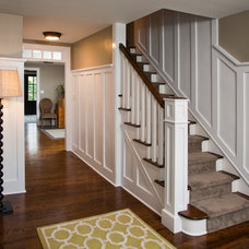 Traditional Staircase by JFA Architecture