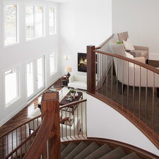 Contemporary Staircase by Maillot Homes
