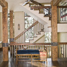 Rustic Staircase by Bear Mountain Builders