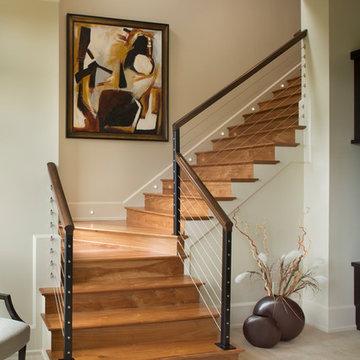 Mountain Contemporary Custom Home - Stairway