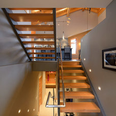 Contemporary Staircase by Sticks and Stones Design Group Inc