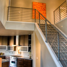 Modern Staircase by Bear Mountain Builders