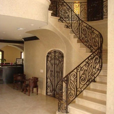 Mediterranean Staircase by Nabers Stone Co., Inc.