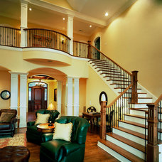 Traditional Staircase by Brock Builders Inc.