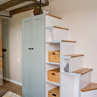Inspiration for a rustic staircase remodel in Boise