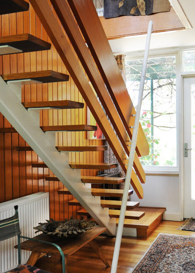 Eclectic Staircase by Luci.D Interiors