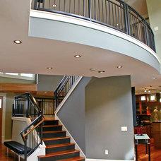 Contemporary Staircase by Sellentin True Design Build
