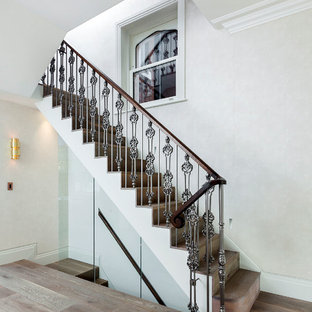 Inspiration for a large traditional staircase in London.